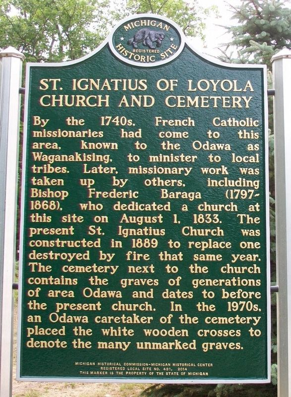 St. Ignatius of Loyola Church and Cemetery Marker (Side A) image. Click for full size.