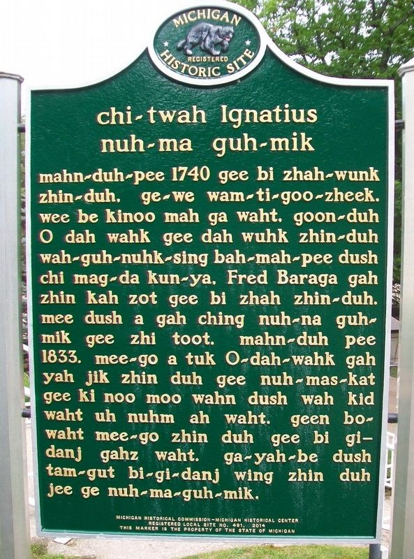 chi-twah Ignatius nuh-ma guh-mik Marker (Side B) image. Click for full size.