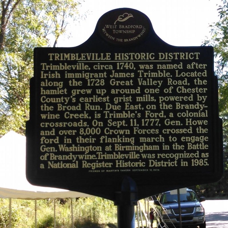 Trimbleville Historic District Marker image. Click for full size.