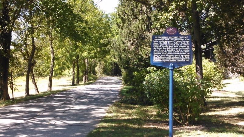 Trimbleville Historic District Marker Roadside image. Click for full size.