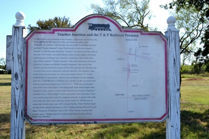 Thurber Junction and the T&P Railroad Presence Marker image. Click for full size.