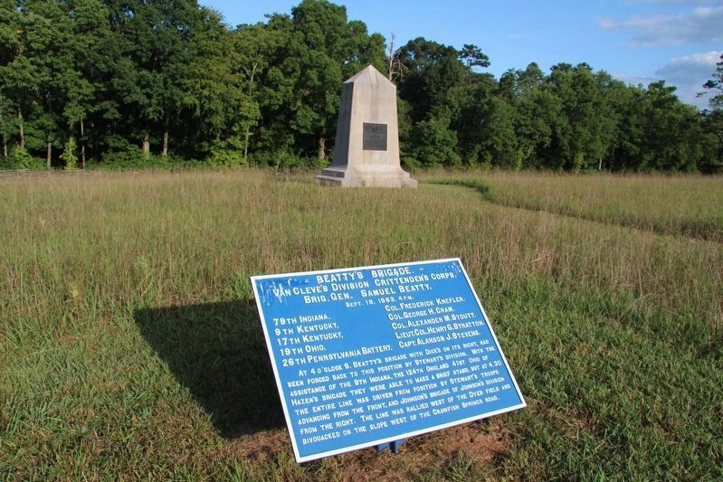S. Beatty's Brigade Marker image. Click for full size.