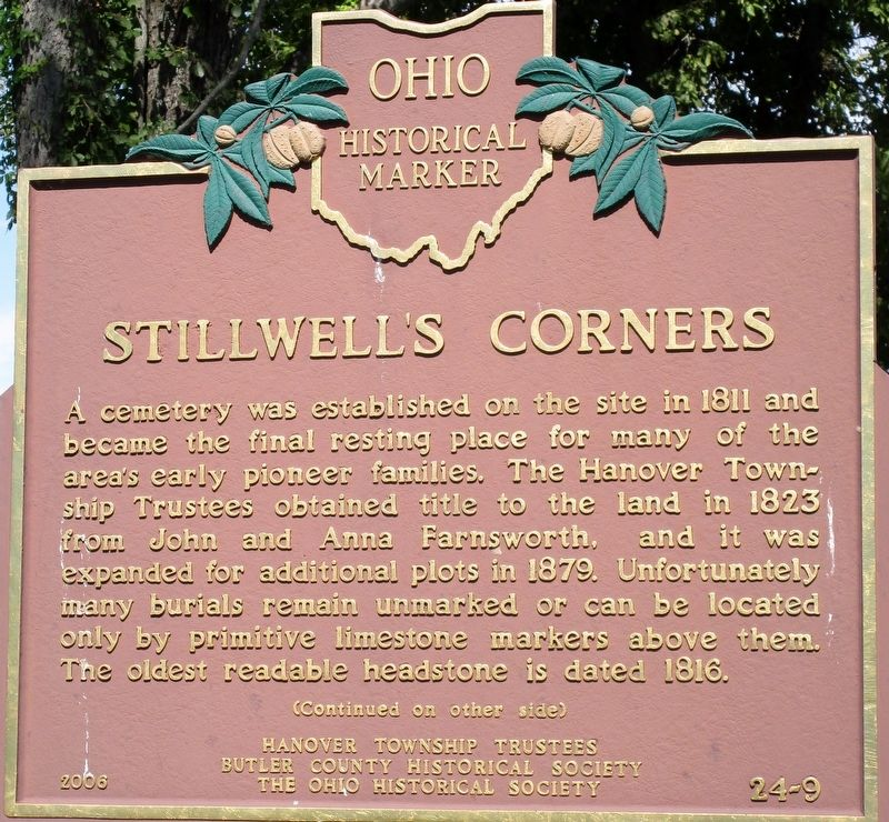 Stillwell's Corners Marker image. Click for full size.