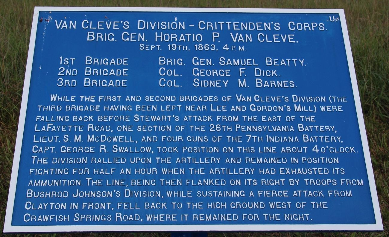 Van Cleve's Division Marker image. Click for full size.