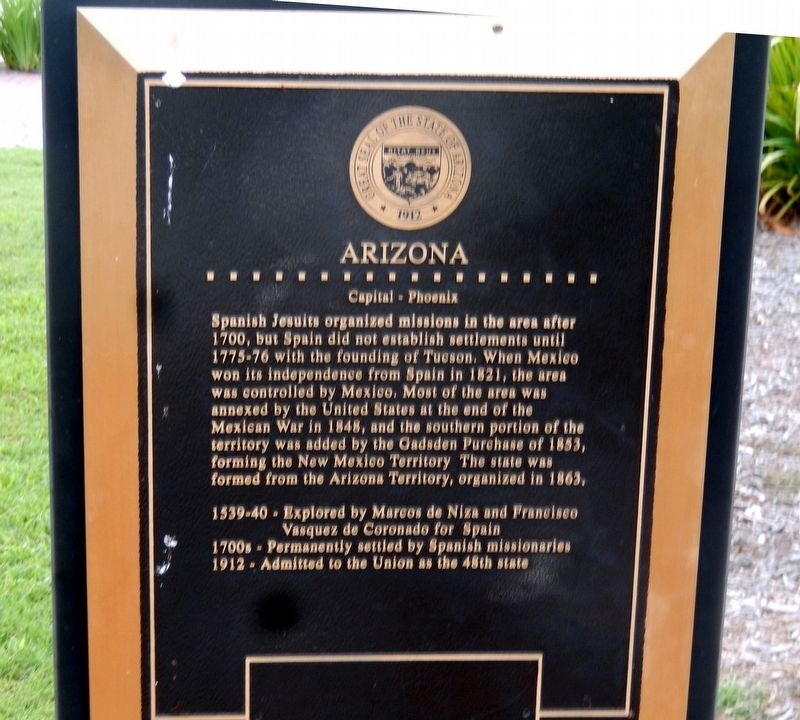 Arizona Marker image. Click for full size.