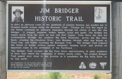Jim Bridger Historic Trail Marker image. Click for full size.