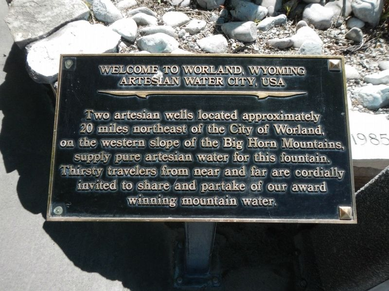 Welcome to Worland, Wyoming Marker image. Click for full size.