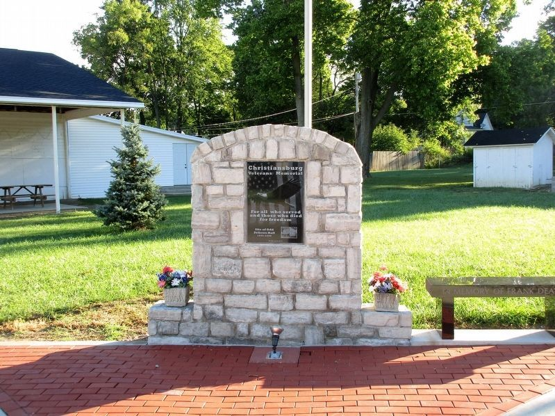 Christiansburg Veterans Memorial Marker image. Click for full size.