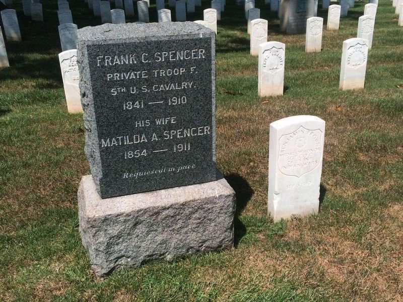 Medal of Honor grave marker for Sgt. Benjamin Brown, Section K, Site 7519 image. Click for full size.