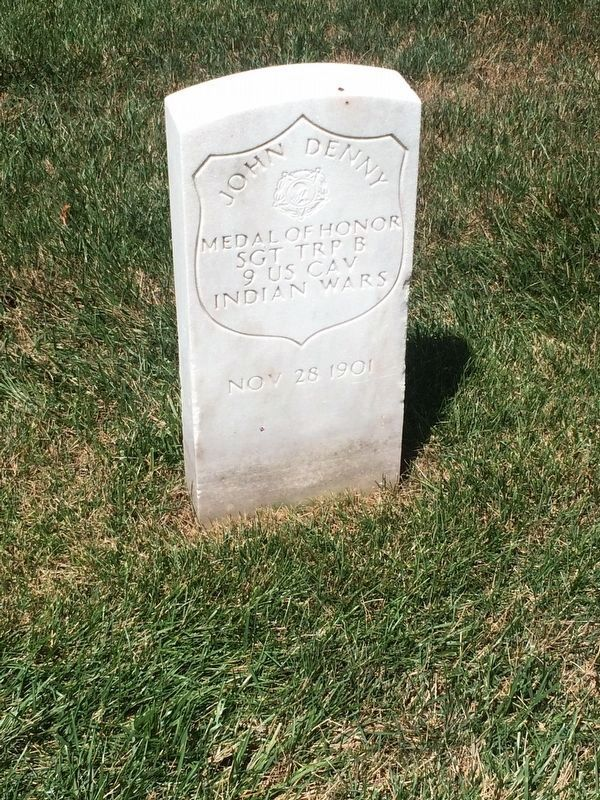 Medal of Honor grave marker for Sgt. John Denny, Section K, Grave 7020 image. Click for full size.