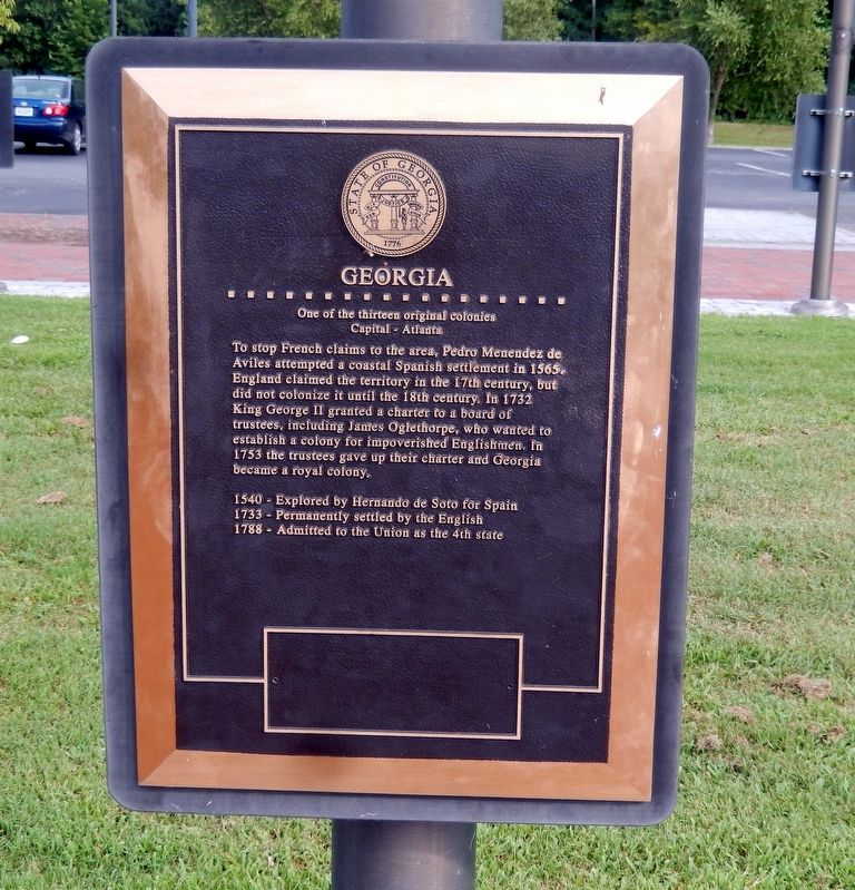 Georgia Marker image. Click for full size.