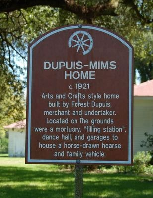 Dupuis-Mims Home Marker image. Click for full size.