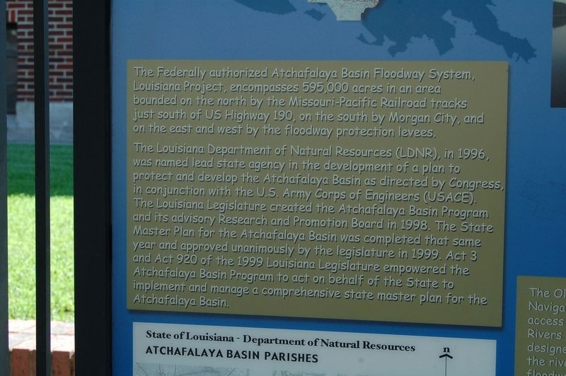 Louisiana's Atchafalaya Basin Marker image. Click for full size.