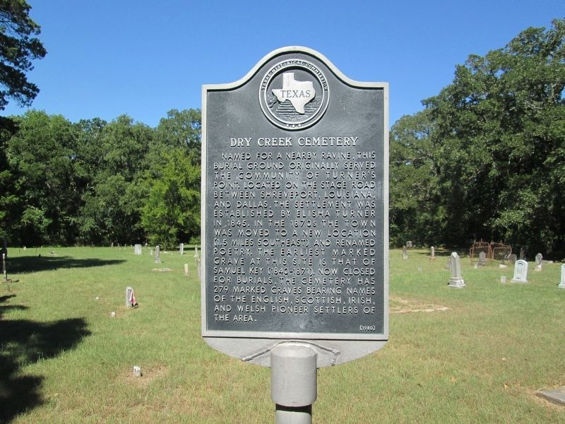 Dry Creek Cemetery Marker image. Click for full size.