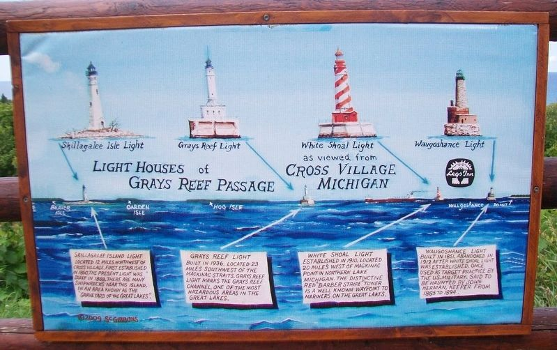 Light Houses of Grays Reef Passage Marker image. Click for full size.