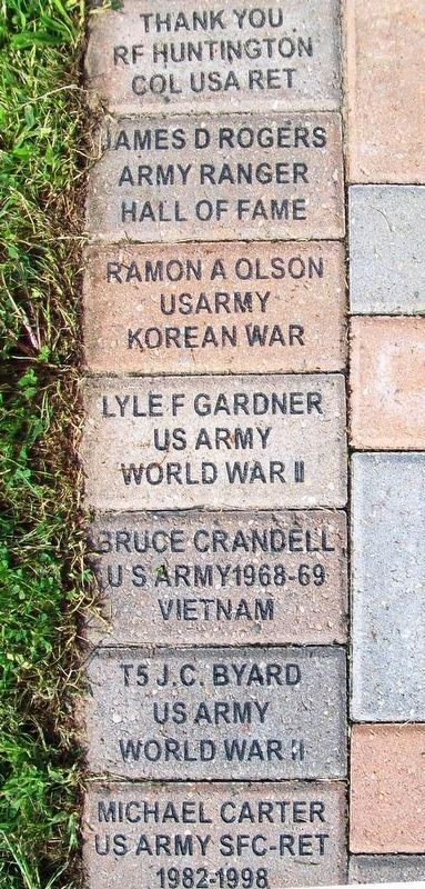 Veterans Memorial Representative Veteran Pavers image. Click for full size.