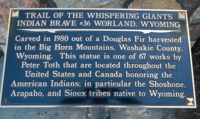Trail of the Whispering Giants Marker image. Click for full size.
