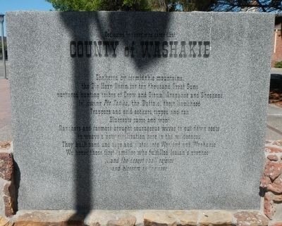 County of Washakie Marker image. Click for full size.
