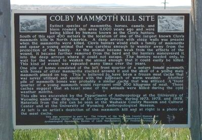 Colby Mammoth Kill Site Marker image. Click for full size.