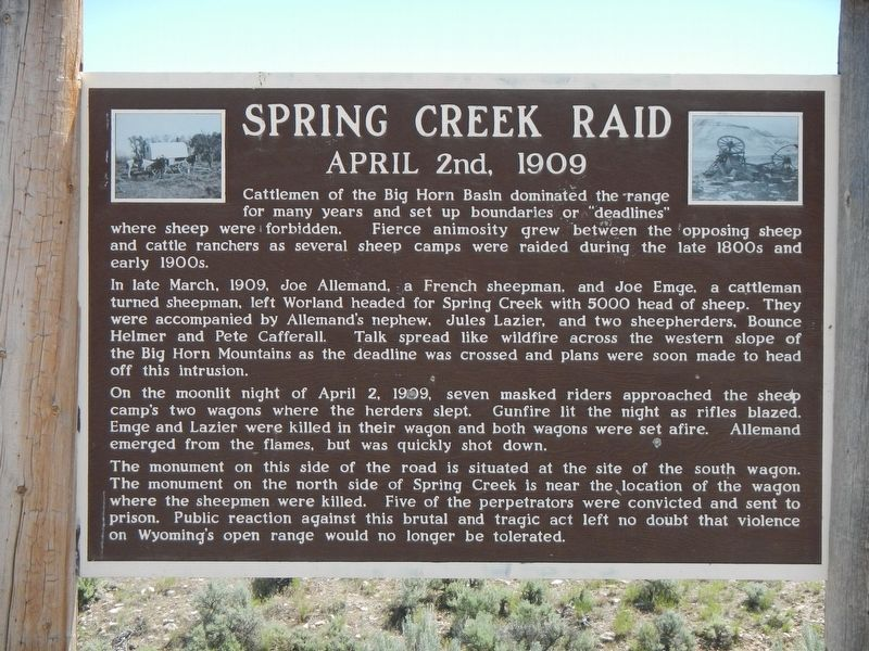 Spring Creek Raid Marker image. Click for full size.