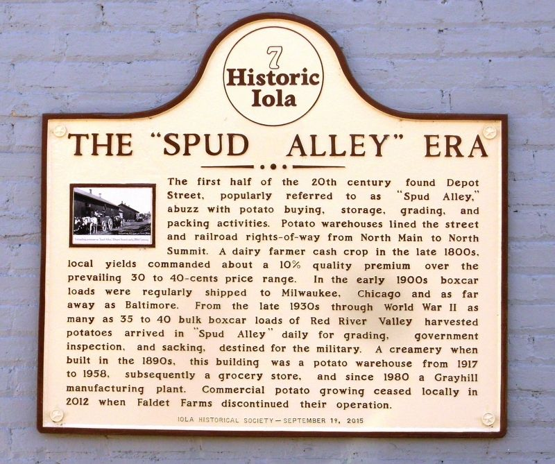 "The ""Spud Alley"" Era Marker image. Click for full size."