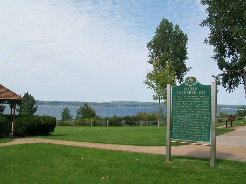 Little Traverse Bay and Marker image. Click for full size.
