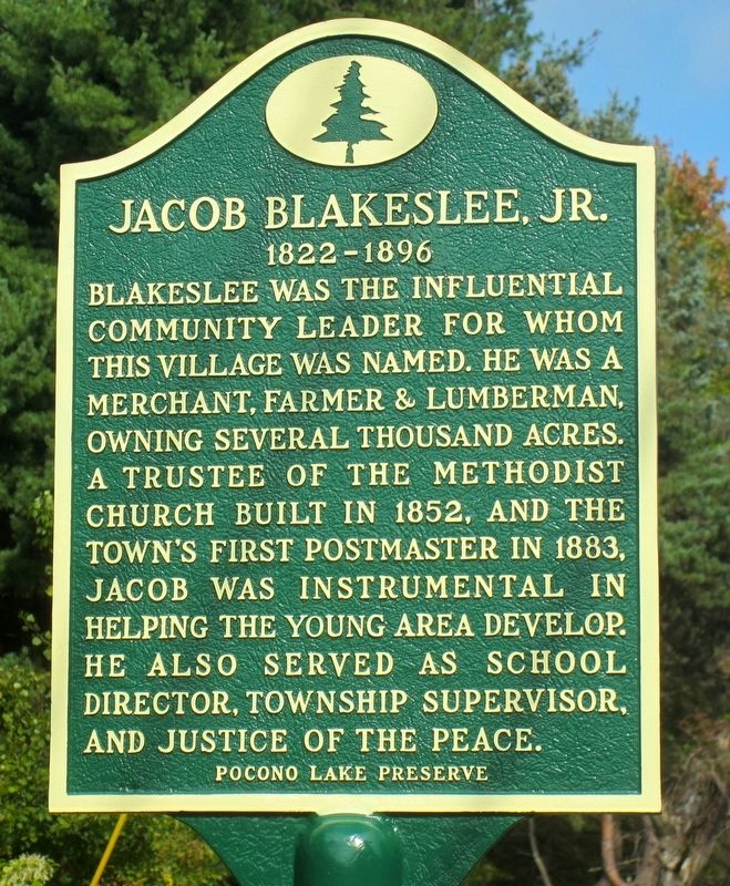 Jacob Blakeslee, Jr. Marker image. Click for full size.