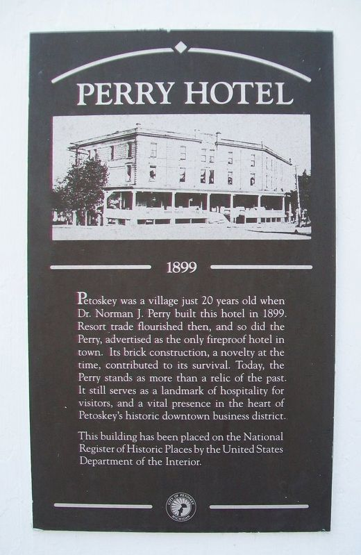 Perry Hotel Marker image. Click for full size.