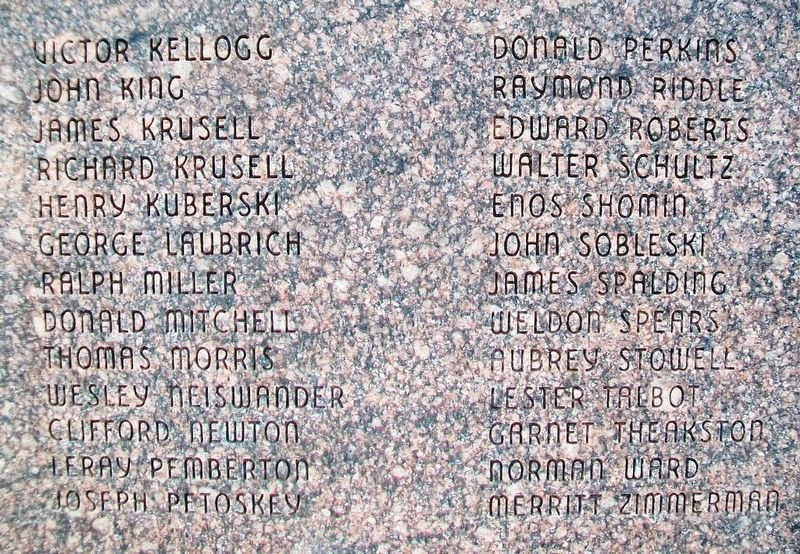 World War II and Korea Memorial Honor Roll image. Click for full size.
