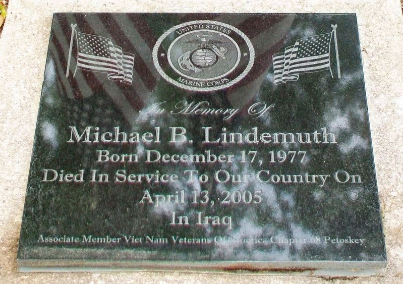 Michael B. Lindemuth Memorial Marker image. Click for full size.