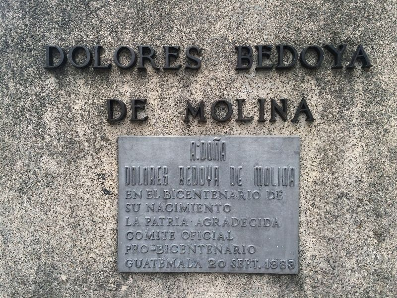 Dolores Bedoya de Molina Marker image. Click for full size.