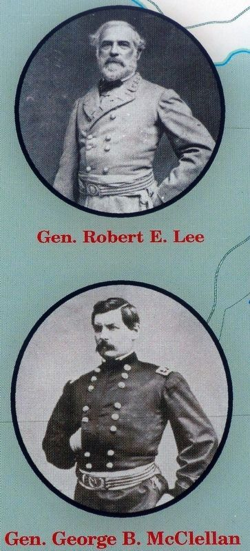 Gen. Robert E. Lee / Gen. George B. McClellan image. Click for full size.