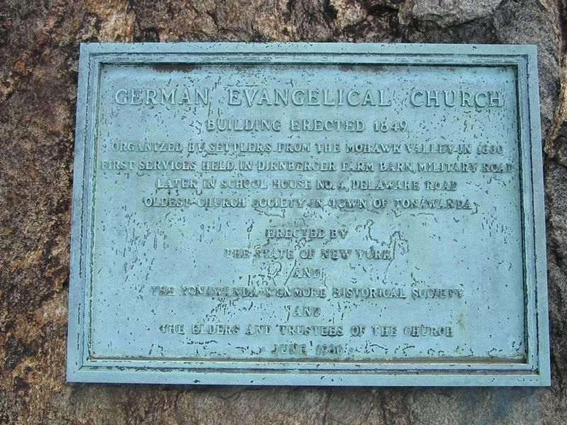 German Evangelical Church Marker image. Click for full size.