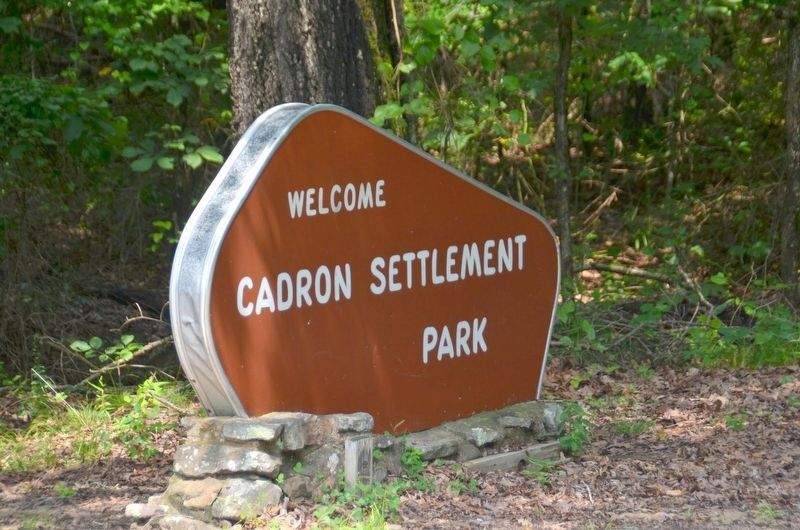 Cadron Settlement Park entrance. image. Click for full size.