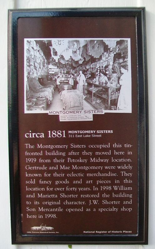 Montgomery Sisters Marker image. Click for full size.