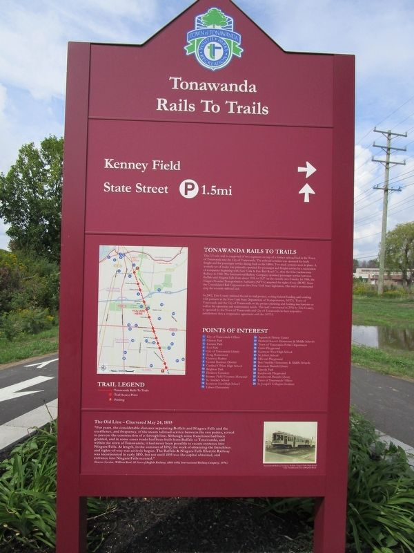 Tonawanda Rails to Trails Marker image. Click for full size.