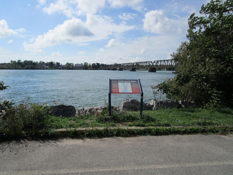 Marker, Niagara River, and Canadian Shore image. Click for full size.