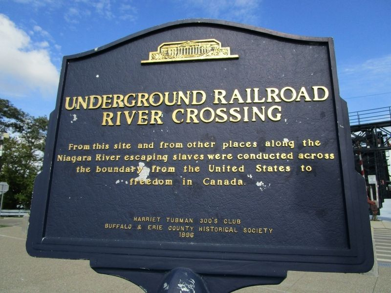 Underground Railroad River Crossing Marker image. Click for full size.