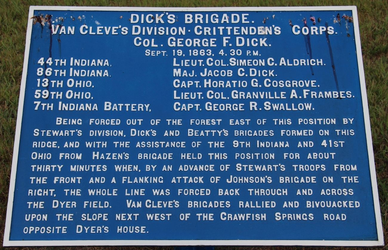 Dick's Brigade Marker image. Click for full size.
