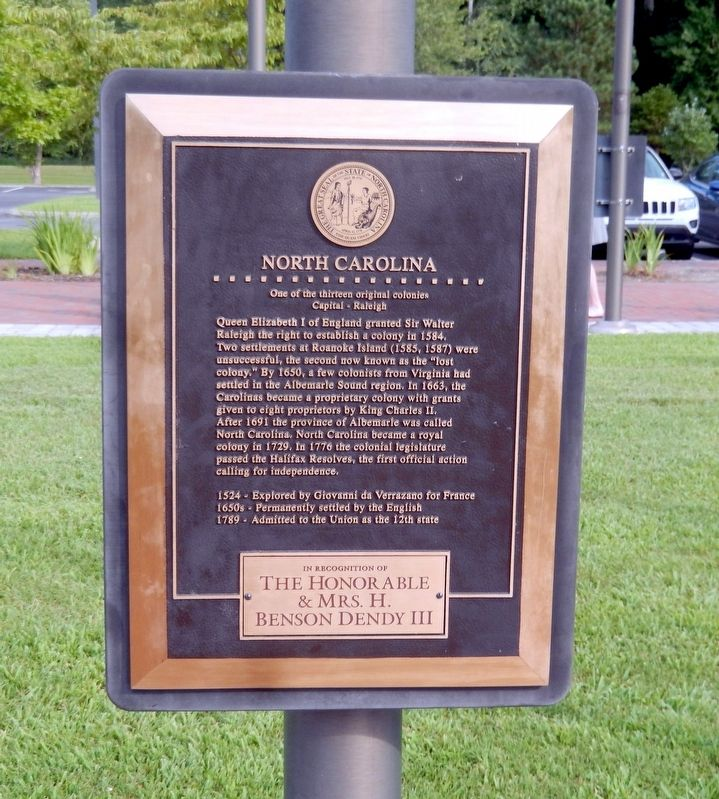 North Carolina Marker image. Click for full size.