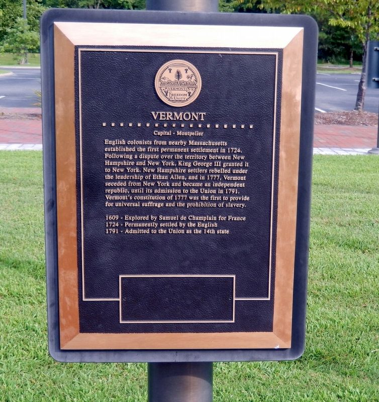 Vermont Marker image. Click for full size.