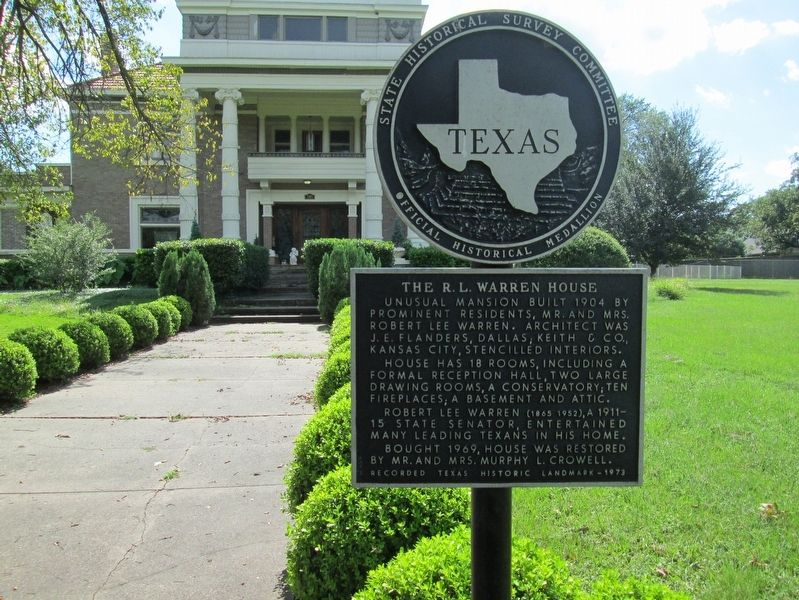 The R. L. Warren House Marker image. Click for full size.