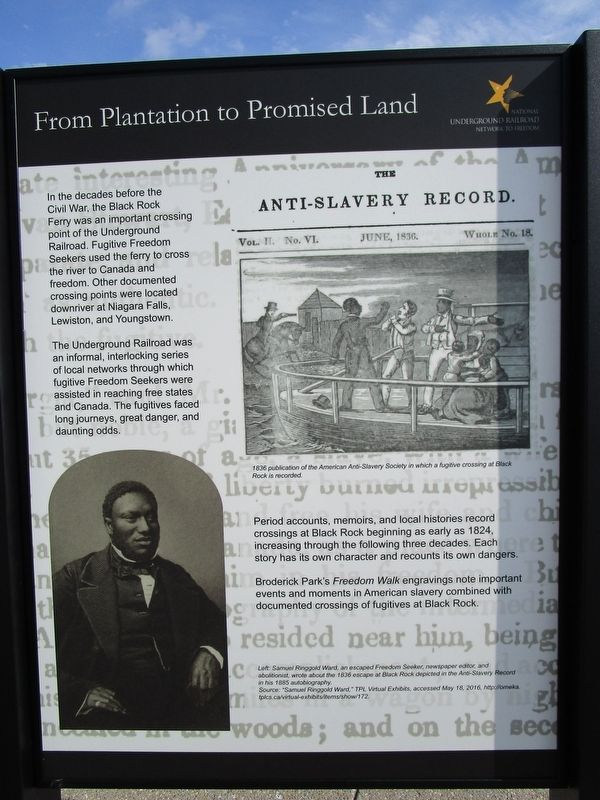 From Plantation to Promised Land Panel image. Click for full size.