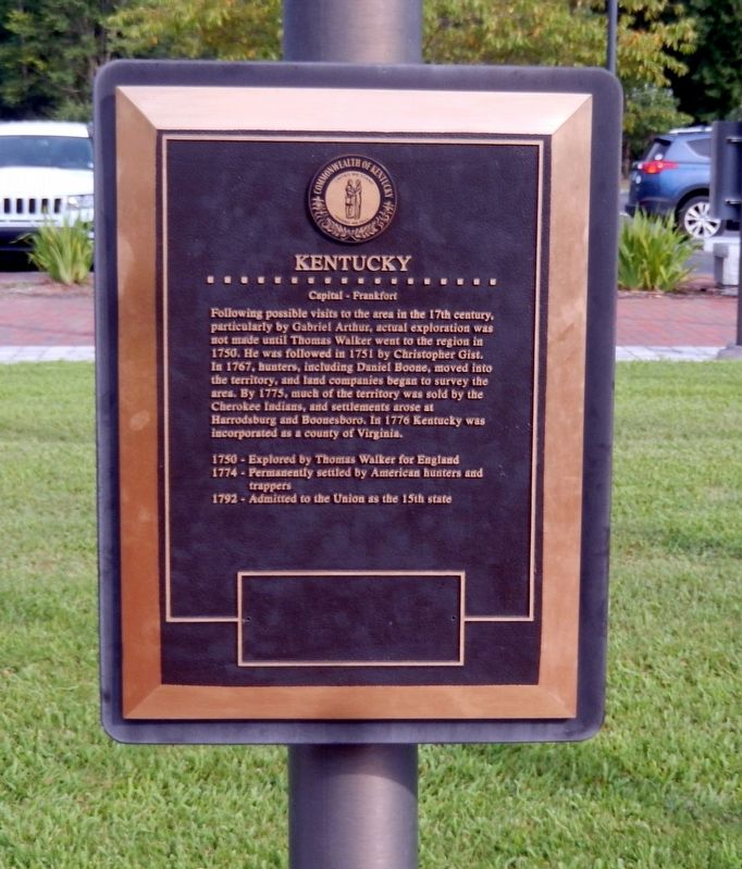 Kentucky Marker image. Click for full size.