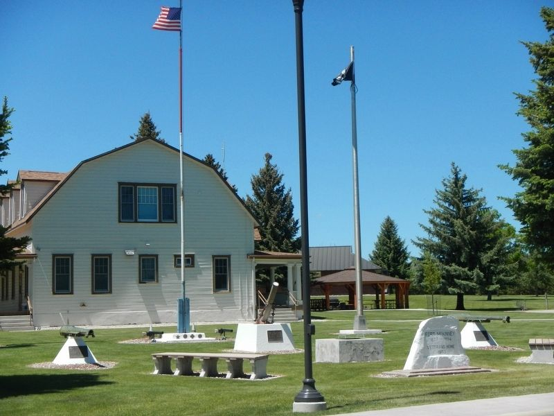 Veteran's Home of Wyoming and Memorial Markers image. Click for full size.