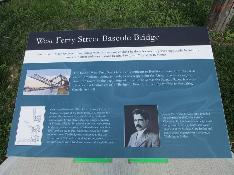 West Ferry Street Bascule Bridge Marker image. Click for full size.