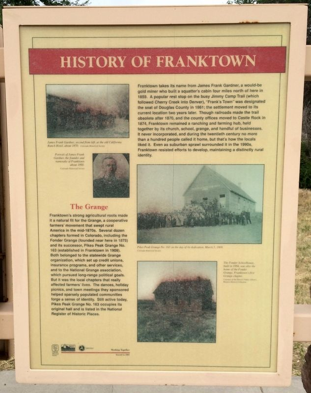 History of Franktown (Panel 2) image. Click for full size.