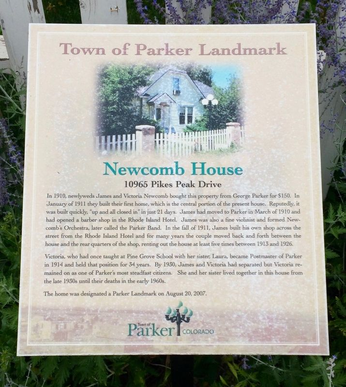 Newcomb House Marker image. Click for full size.
