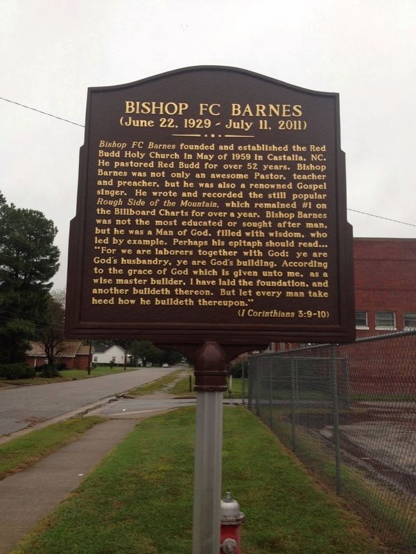 Bishop FC Barnes Marker image. Click for full size.