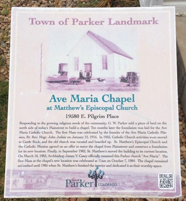 Ave Maria Chapel Marker image. Click for full size.